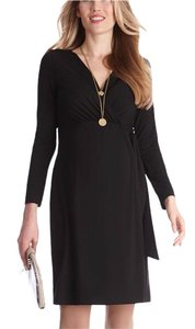 Séraphine classic black wrap maternity dress