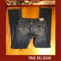 """True Religion Blue Distressed Faded Wash 31-teue """"billy Big Jeans-33"""" Inseam Boot Cut Jeans Size 10 (M, 31) True Religion Blue Distressed Faded Wash 31-teue """"billy Big Jeans-33"""" Inseam Boot Cut Jeans Size 10 (M, 31) Image 2"""