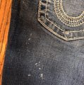 """True Religion Blue Distressed Faded Wash 31-teue """"billy Big Jeans-33"""" Inseam Boot Cut Jeans Size 10 (M, 31) True Religion Blue Distressed Faded Wash 31-teue """"billy Big Jeans-33"""" Inseam Boot Cut Jeans Size 10 (M, 31) Image 12"""