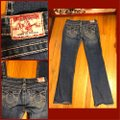 """True Religion Blue Distressed Faded Wash 31-teue """"billy Big Jeans-33"""" Inseam Boot Cut Jeans Size 10 (M, 31) True Religion Blue Distressed Faded Wash 31-teue """"billy Big Jeans-33"""" Inseam Boot Cut Jeans Size 10 (M, 31) Image 4"""