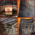 """True Religion Blue Distressed Faded Wash 31-teue """"billy Big Jeans-33"""" Inseam Boot Cut Jeans Size 10 (M, 31) True Religion Blue Distressed Faded Wash 31-teue """"billy Big Jeans-33"""" Inseam Boot Cut Jeans Size 10 (M, 31) Image 5"""