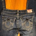 """True Religion Blue Distressed Faded Wash 31-teue """"billy Big Jeans-33"""" Inseam Boot Cut Jeans Size 10 (M, 31) True Religion Blue Distressed Faded Wash 31-teue """"billy Big Jeans-33"""" Inseam Boot Cut Jeans Size 10 (M, 31) Image 6"""