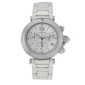 Cartier Authentic Unisex Cartier Pasha 3129 Steel Date Quartz Chronograph 38MM