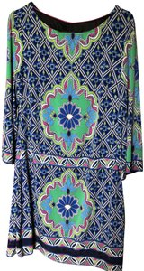 Laundry by Shelli Segal Paisley Sleek Shift Polyester Casual Dress