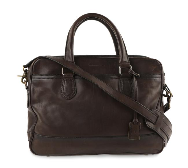 Item - Brown Leather James Work Zip Laptop Bag