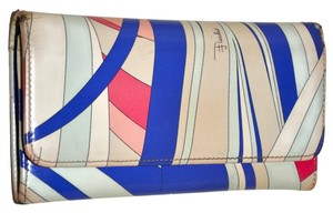 Emilio Pucci Emilio Pucci Abstract Colorful Design Full Size Wallet