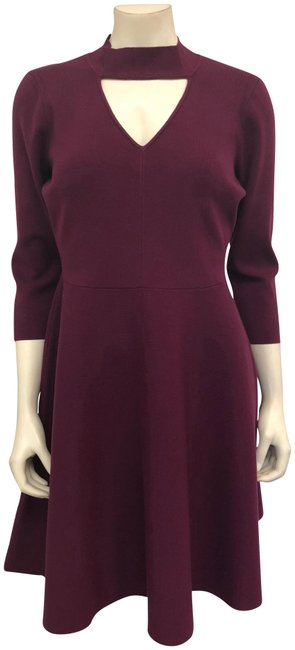Preload https://item3.tradesy.com/images/milly-burgundy-cutout-collar-fit-and-flare-short-cocktail-dress-size-12-l-23476027-0-3.jpg?width=400&height=650