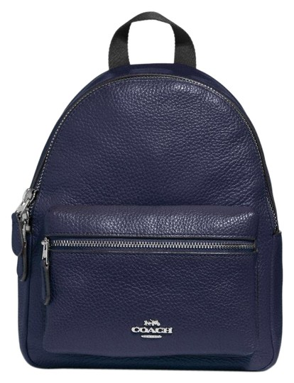 Preload https://item5.tradesy.com/images/coach-mini-charlie-midnight-leather-backpack-23476034-0-1.jpg?width=440&height=440