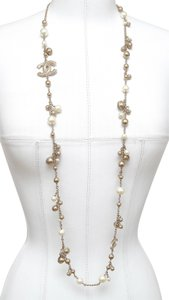 Chanel CHANEL Necklace Belt Chain Pearl Gold Charm Strand Bombay 12A 2012