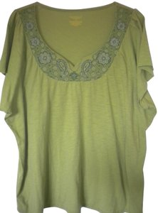 Northcrest T-shirt Embroidered T Shirt Green