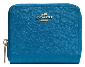 Coach Denim blue zipper wallet