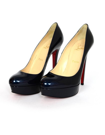 Christian Louboutin Patent Leather Heels blue Pumps