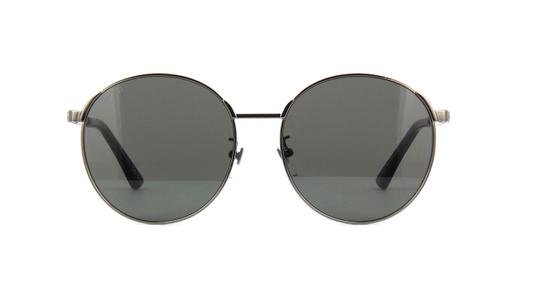 Gucci Gucci GG0206SK 002 Sunglasses Ruthenium Frame Dark Grey Lenses