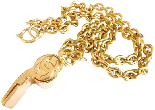 Preload https://img-static.tradesy.com/item/23476209/chanel-gold-plared-vintage-cc-logos-whistle-pendant-chain-necklace-0-1-540-540.jpg