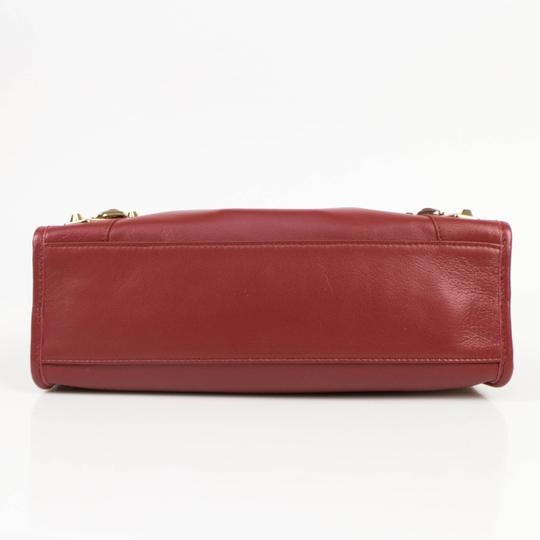 Balenciaga Leather Gold Hardware Satchel in Red