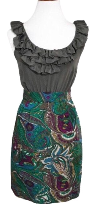 Preload https://item2.tradesy.com/images/anthropologie-gray-green-ruffled-paisley-silk-sheath-mid-length-workoffice-dress-size-2-xs-23476226-0-1.jpg?width=400&height=650