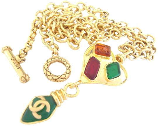 Preload https://item1.tradesy.com/images/chanel-gold-plated-multi-color-poured-glass-dangling-pendant-chain-necklace-necklace-23476245-0-3.jpg?width=440&height=440