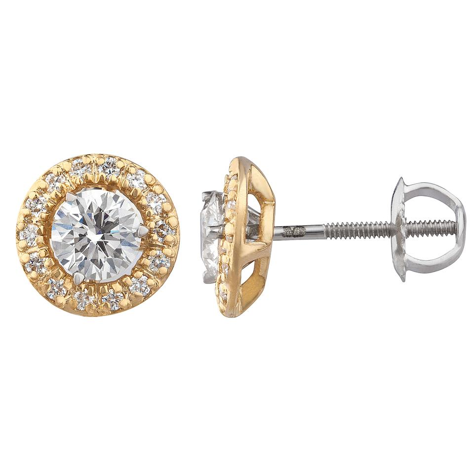 White Gold 18k 1 01 Ct Diamond Studs With Jackets H I Si Earrings 56 Off Retail