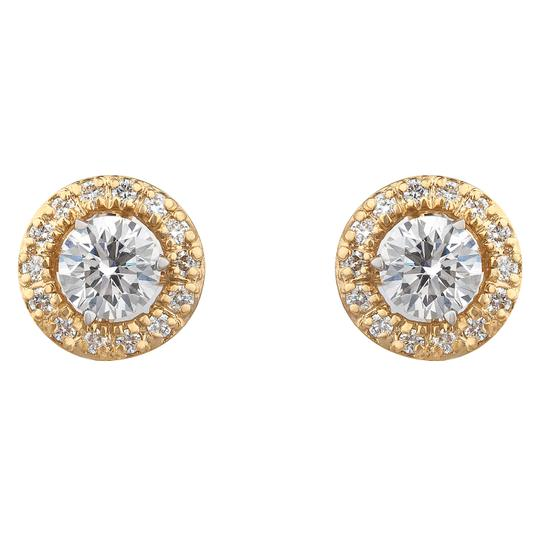 JMD LUX 18K Gold 1.01 Ct Diamond Studs Earrings with Earring Jackets, H-I, SI