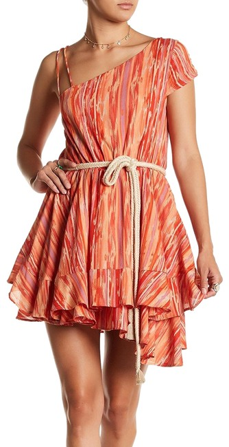 Preload https://item3.tradesy.com/images/free-people-orange-heart-shaped-face-asymmetrical-belted-cotton-mini-short-casual-dress-size-2-xs-23476267-0-1.jpg?width=400&height=650
