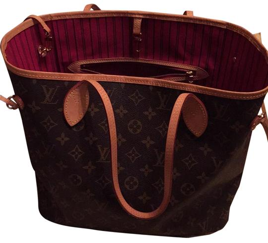 Preload https://item2.tradesy.com/images/louis-vuitton-neverfull-brown-lv-monogram-coated-canvas-tote-23476271-0-1.jpg?width=440&height=440