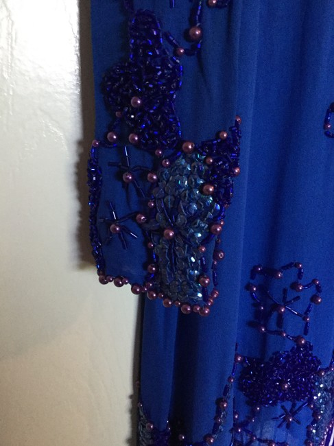 Black Tie by He-Ro Vintage Silk Chiffon Sequin And Beaded Dress