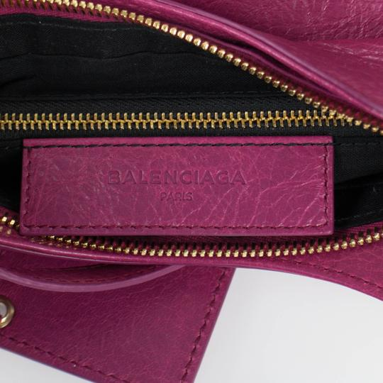 Balenciaga Leather Gold Hardware Satchel in Pink