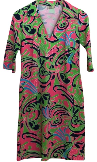 Preload https://img-static.tradesy.com/item/23476307/green-pink-blue-coco-mid-length-workoffice-dress-size-6-s-0-1-650-650.jpg