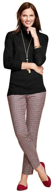 Item - Red Gingham Check Hampshire Wool 8p Pants Size Petite 8 (M)
