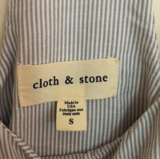 Cloth & Stone Top blue and white stripes