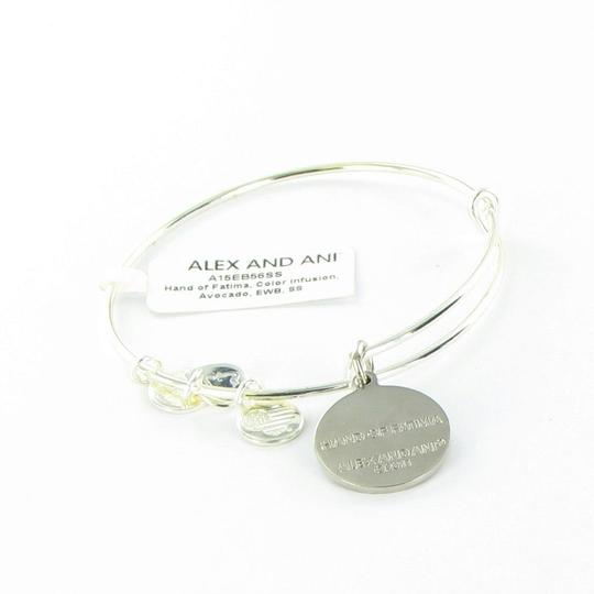 Alex and Ani Hand of Fatima Bracelet Avocado Color Infusion Silver-Tone NWT Box