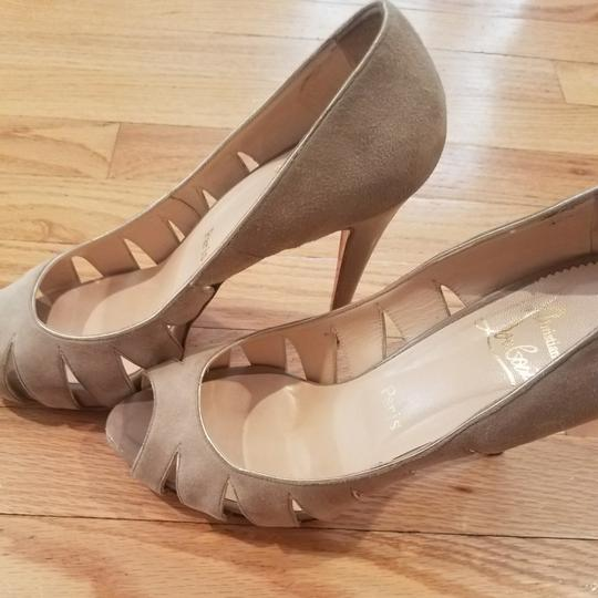 Christian Louboutin Taupe Pumps