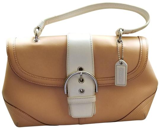 Preload https://item2.tradesy.com/images/coach-two-tone-two-tone-sand-and-off-white-leather-satchel-23476371-0-1.jpg?width=440&height=440