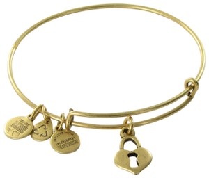 Alex and Ani Key to My Heart Expandable EWB Bracelet Russian Gold NWT Card Box