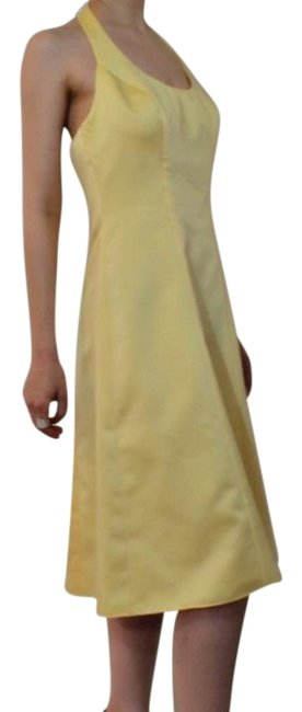 Preload https://item2.tradesy.com/images/david-s-bridal-yellow-no-mid-length-night-out-dress-size-8-m-23476386-0-1.jpg?width=400&height=650