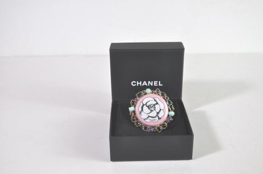 Chanel Chanel Large Multicolor Rhinestones Camelia Ring Size 6