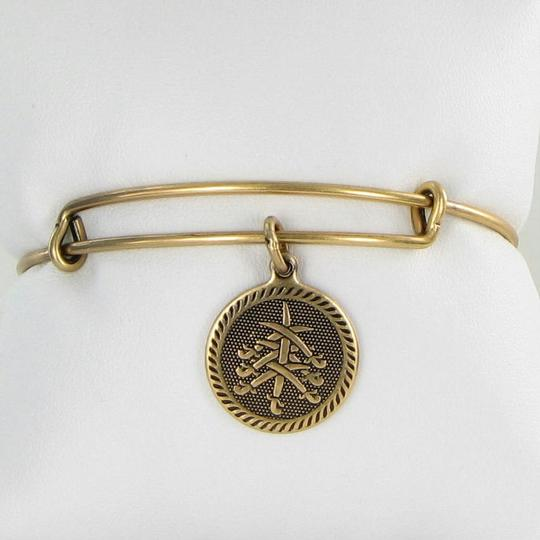 Alex and Ani Seven Swords Round Charm EWB Expandable Bracelet Russian Gold