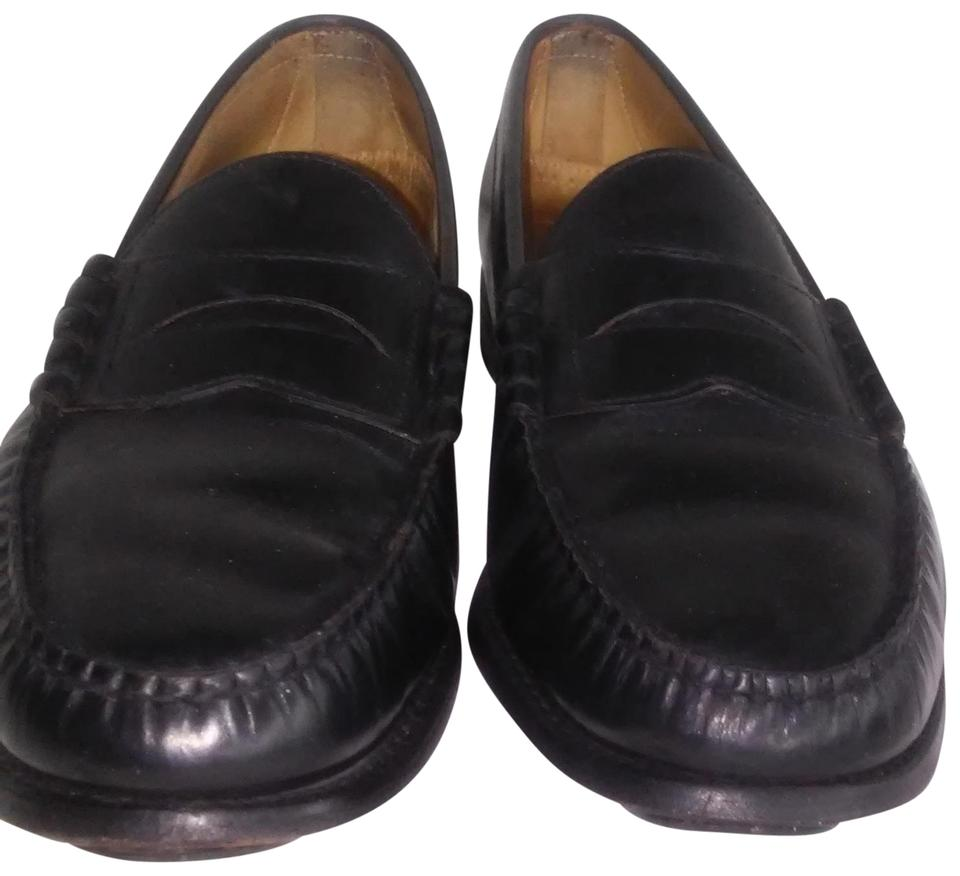 b74db83a30e Black Mens Leather L Loafers D Flats Size US 12.5 Wide (C