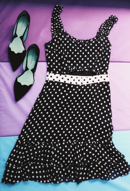 Black and White Maxi Dress by INTERMIX Polka Dot