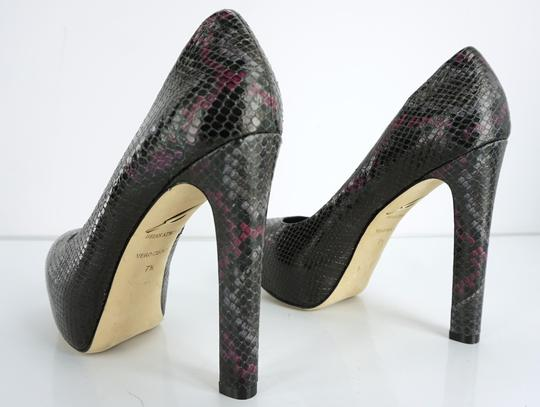 B Brian Atwood High Heel Pink Grey Party Formal Black Platforms