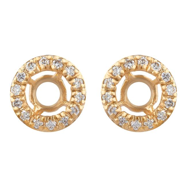 Item - Yellow Gold 14k .33 Cttw Diamond Earring Jackets Perfect For 1/2 Carat Studs