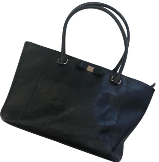 Preload https://item5.tradesy.com/images/kate-spade-black-leather-tote-23476484-0-1.jpg?width=440&height=440