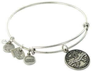 Alex and Ani CBD13JFRS Boston Red Sox Jimmy Fund Expandable Bracelet Russian Silver