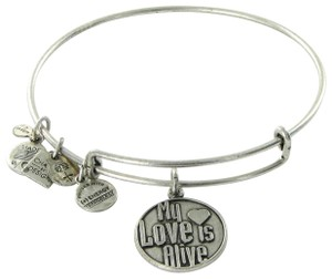 Alex and Ani My Love Is Alive Expandable EWB Bracelet Rafaelian Silver NWT Card