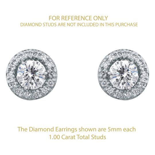 JMD LUX 14K Gold .33 Cttw Diamond Earring Jackets, Perfect for 1/2 Carat Studs