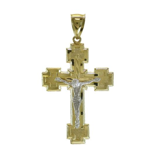 Preload https://item1.tradesy.com/images/avital-and-co-jewelry-14k-two-tone-gold-crucifix-cross-pendant-44mm-23476595-0-0.jpg?width=440&height=440