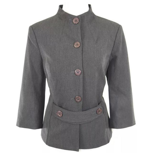 Preload https://item2.tradesy.com/images/donna-degnan-gray-stylish-fitted-jacket-blazer-size-8-m-23476601-0-0.jpg?width=400&height=650