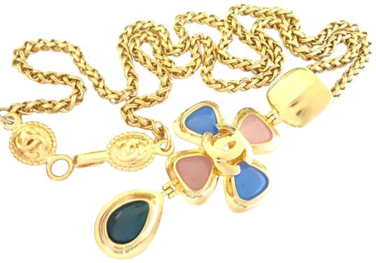 Preload https://item5.tradesy.com/images/chanel-gold-plated-vintage-cc-logos-multi-color-stone-pendant-chain-necklace-23476619-0-3.jpg?width=440&height=440