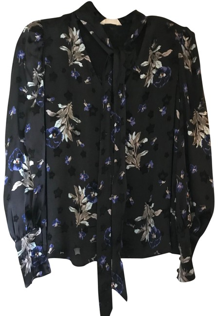 Preload https://item1.tradesy.com/images/rebecca-taylor-black-floral-evening-blouse-size-4-s-23476645-0-2.jpg?width=400&height=650