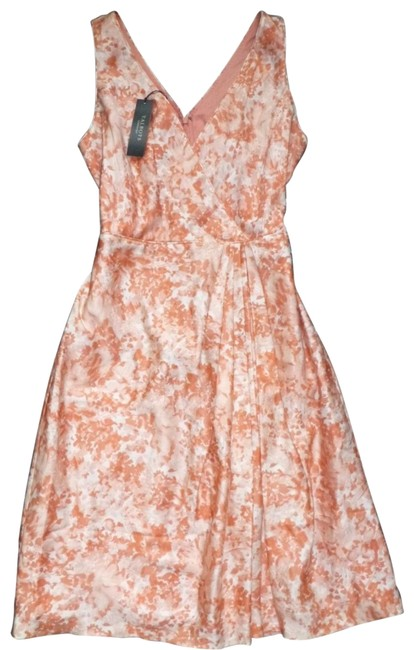 Preload https://item5.tradesy.com/images/talbots-peach-salmon-abstract-watercolor-floral-v-neck-faux-wrap-mid-length-night-out-dress-size-10--23476709-0-1.jpg?width=400&height=650